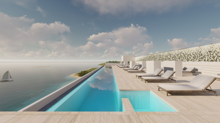 piscina infinity proyecto